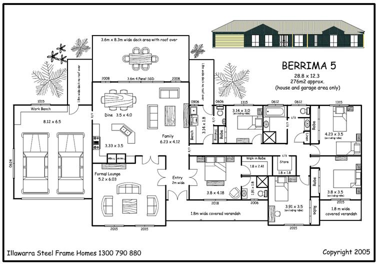 Simple house plan with 5 bedrooms home design for Five room house plan
